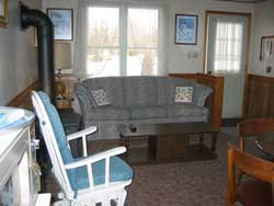 View to Living Room from Kitchen at Maple Court Cottages Port Dover Ontario Canada