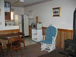 Living Room - View to Kitchen at Maple Court Cottages Port Dover Ontario Canada