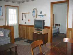 TV, Dinette, Bedroom at Maple Court Cottages Port Dover Ontario Canada