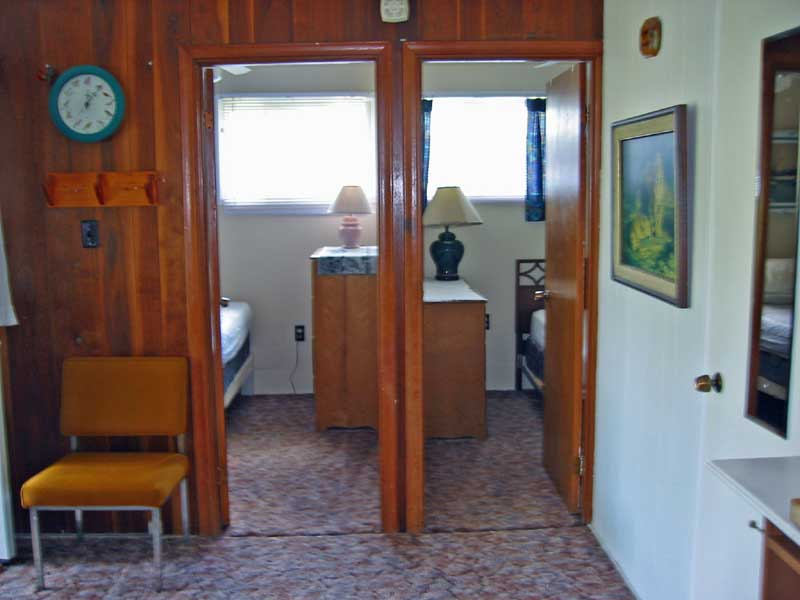 Entrance to both bedrooms at Maple Court Cottages Port Dover Ontario Canada