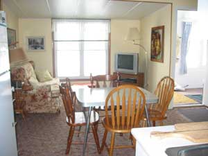View of Dinette & Kitchen at Maple Court Cottages Port Dover Ontario Canada