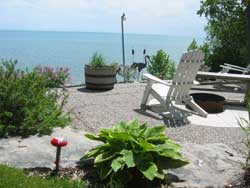 Early summer on our terrace at Maple Court Cottages Port Dover Ontario Canada