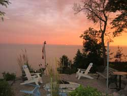 Magical Sunset over Lake Erie at Maple Court Cottages Port Dover Ontario Canada