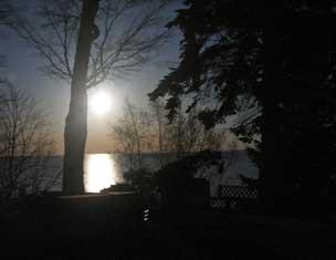 Full Moon over Lake Erie