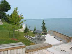 View of Lake Erie over our Lighthouse at Maple Court Cottages Port Dover Ontario Canada