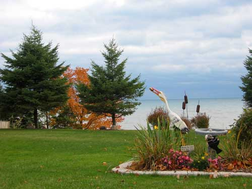 Fall colours at Maple Court Cottages Port Dover Ontario Canada