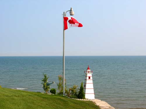 Lighthouse on our bank at Maple Court Cottages Port Dover Ontario Canada